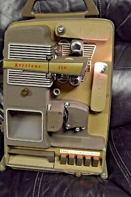 Vintage 50's Keystone K110 8mm Var Speed/movie projector(as is for rest or parts