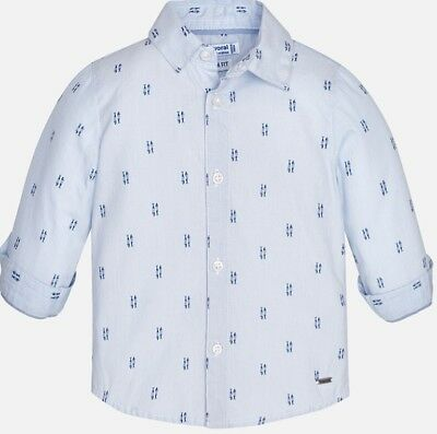 New Mayoral Baby Boy patterned shirt with long sleeves,Age 6 Months,(1168)