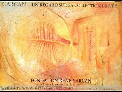 Rene CARCAN vintage poster expo 1992 Fondation Carcan