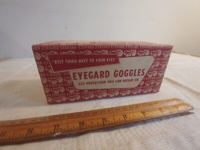 vintage eyegard safety goggles glasses industrial factory 1950s original box