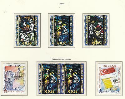 VATICAN 2006 Christmas/Singapore Sets and pair All MUH