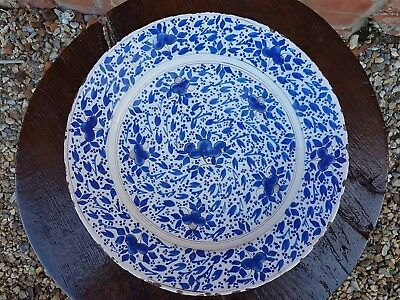 17th Century English Antique Delftware Delft Charger attr. Pickleherring London
