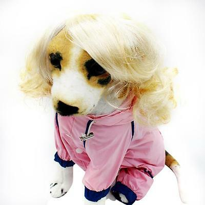 Dog Blonde Wig Adjustable Dress Up Costume - Party Photos Pug Staffy Chihuahua