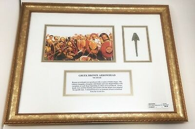 Greek Bronze Arrowhead 700-400 BC Framed