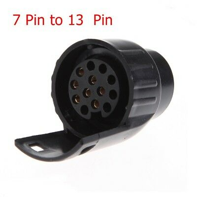 7 To 13 Pin Trailer Plug Socket Plastic Trailer Wiring Connector 12V Towing Plug