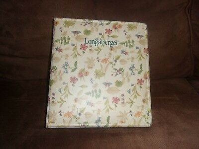 Longaberger Franklin Planner 7 Ring Binder - Botanical Fields
