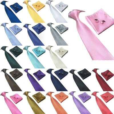 Striped Tie cufflink and hanky hankerchief set stylish fashion mens gift party
