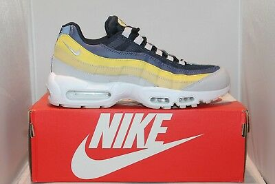 new styles 11a39 e37ee Mens Nike Air Max 95 Essential 749766-107 White Grey Lemon Retro Classic  Shoes