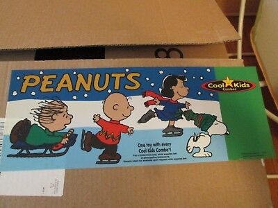 charlie brown Peanuts Snoopy hardees sign translight