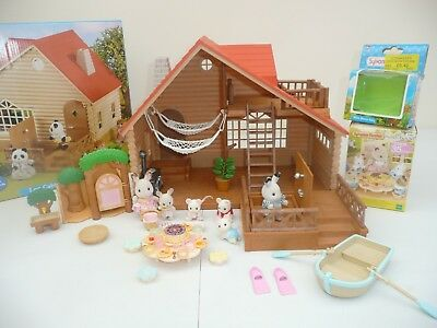 sylvanian families Log cabin Bundle boxed with lots of accessories