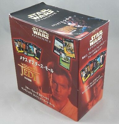 Star Wars Young Jedi CCG Menace of Darth Maul JAPANESE 30 Pack Booster Box NEW