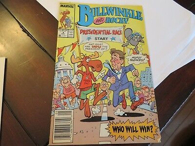 Bullwinkle and Rocky May 4, 1988 comic book magazine Reagan Presidential Race NM