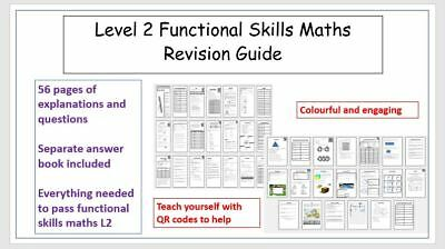 Functional Skills Maths Revision Guides/Workbooks with answers.Level 2