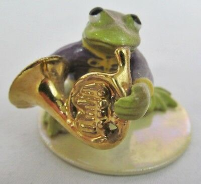 Hagen Renaker French Horn Playing Toad / Frog Figurine #3253 Toadally Brass Seri