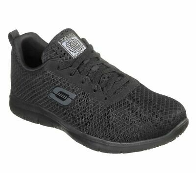 77210 Black Skechers shoes Women Memory Foam Work Slip Resistant EH Safe Comfort