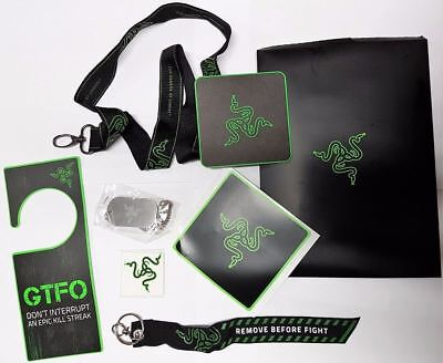 Razer L33T Pack PC/PS4/XBOX Gaming Accessories Bundle Lanyard,DogTag,Tattoo