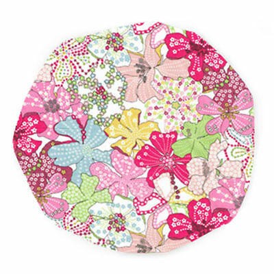 Luxury Liberty Fabric Shower Cap With Satin Detailing Design Mauvey Pink