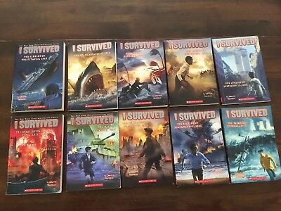 I Survived Book Lot 10 Books History Homeschool Lauren Tarshis Scholastic