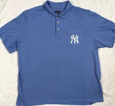 New York Yankees Polo Shirt Size 2xl Blue Jersey Golf Van Huesen Great  Condition 09ebe544676