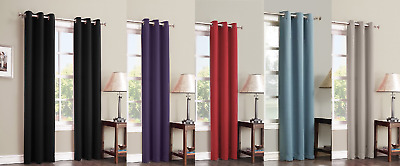 1Pc Panel Grommet Heavy Thick Unlined 100% Thermal Blackout Window Curtain K68