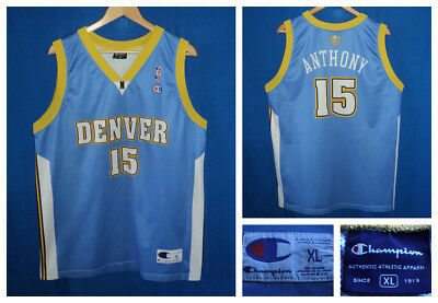 Denver Nuggets Carmelo Anthony Canotta Basket Champion Vintage Jersey  Hipster Xl 553d4ee99761