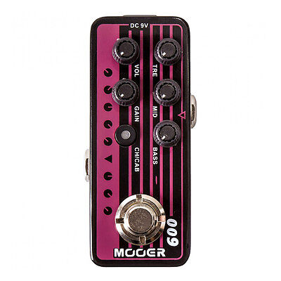 Mooer Micro Preamp 009 Blacknight Guitar Effects Pedal Footswitch Stompbox