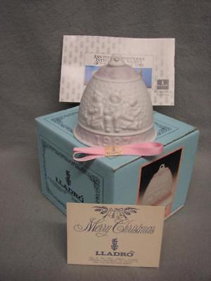 LLADRO 1987 1st Annual Christmas Bell Ornament 5458 Mint in Box w/ certificates