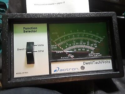Model CP7605 Actron Dwell Tach Volt VoltMeter Volts Analyzer Fast Shipping Great