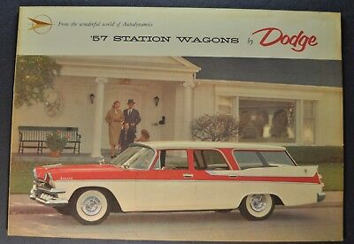 1957 Dodge Station Wagon Catalog Brochure Sierra Suburban Excellent Original 57