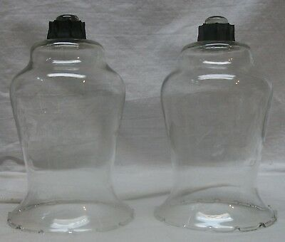 Home Interiors / Homco Votive Cups - 2 Large Clear Etched Floral Votive Cups