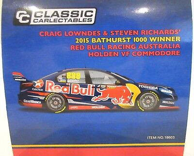 Lowndes / Richards 2015 Red Bull Racing Bathurst Winner 1:18 Classic Carlectable