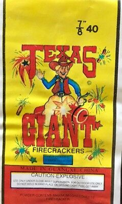 Texas Giant Lady Firecracker Pack Label