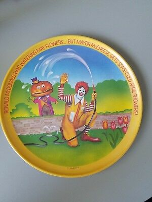 McDonalds plate from 1977 Spring Fun