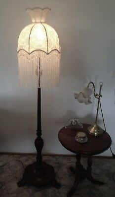 Stunning Cream Colored New Hand Crafted  Lace  Shade For Floor Lamp