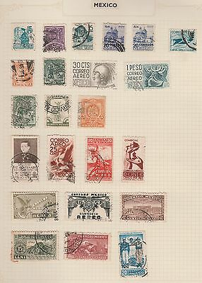 MEXICO CORREOS, Revolution, Colonial, etc On Album Page, Removed for Postage #