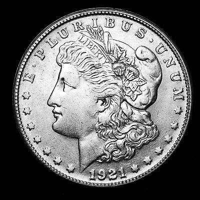 1921 S ~**ABOUT UNCIRCULATED AU**~ Silver Morgan Dollar Rare US Old Coin! #Y22