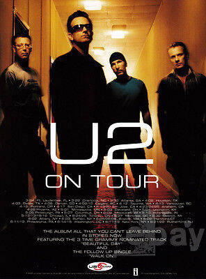 U2 on Tour 1-page clipping 2001 ad for the album