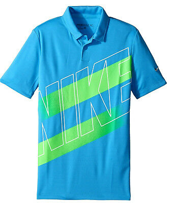 c28b66b3 Nike Golf Junior Victory Graphic Dri-Fit polo shirt NWT boys' XL blue $40