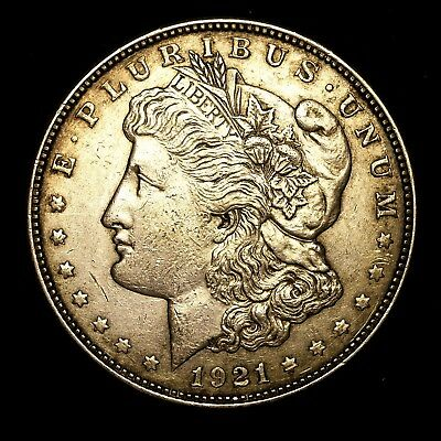1921 D ~**ABOUT UNCIRCULATED AU**~ Silver Morgan Dollar Rare US Old Coin! #L13