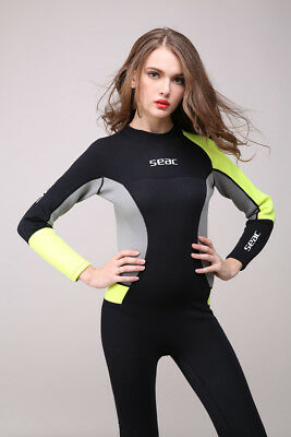 71af1abdef Hisea Women 3mm Neoprene Long sleeve Diving Wetsuit Spearfishing Suit  Swimwear