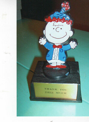 1970 Aviva Plastic statue of Charlie brown, Thank you This Much