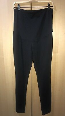 Ingrid & Isabel Maternity Belly Leggings Full Length Sz Med Inseam 29 Black New