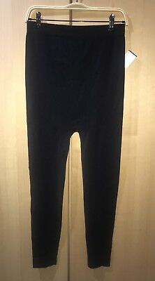 Ingrid & Isabel Maternity Seamless Belly Leggings Full Length Sz L/XL Black New