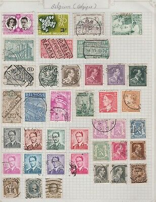 BELGIUM Assorted Europa Textile Industry etc USED as per scan #