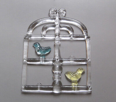Kosta Boda Fensterbild 40cm Bertil Vallien Window Ornament signed Art Glass