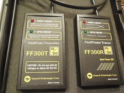 General Technologies Corp. Fault Finder FF300 with Case and instructions.