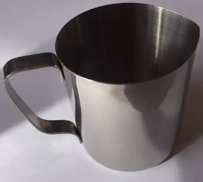 Stainless Steel Milk Through Jug 375ml Coffee Machine Tea Caravan