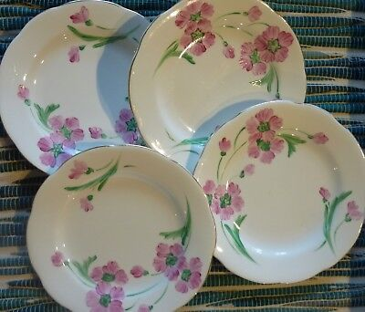 "Set of 4 ""RADFORD POTTERY""  Bone China Floral Side Plates  -- Made in England"