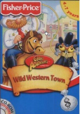 Fisher Price Wild Western Town + Christmas Activity Center ages 4-7 PC 2 new CDs