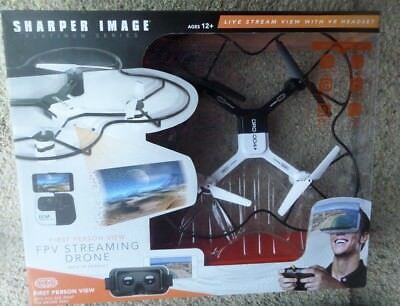 Sharper Image Fpv Streaming Drone Wvr Headset 1st Person Viewing